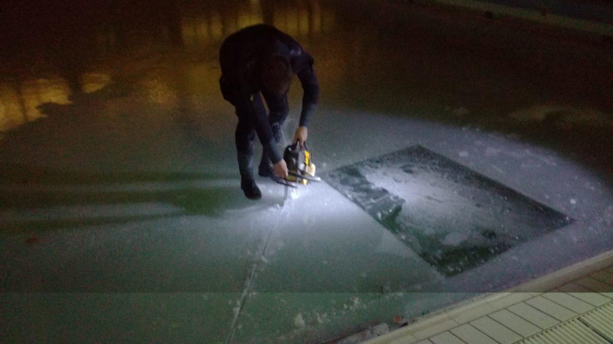 Cvičný ponor pod ledem